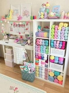Ideas for sewing room - organization - # for # ideas # sewing room # organization - Michelle Gaines Study Room Decor, Craft Room Decor, Craft Room Design, Craft Rooms, Yarn Storage, Craft Room Storage, Storage Ideas, Diy Storage, Tables Shabby Chic