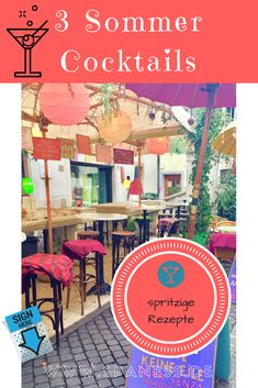 Cocktail Rezepte:Lust auf spritzige Sommer Getränke? 3 Sommer Drinks mal anders. Travel News, Blog, Stress, Summer Cocktails, Cool Recipes, Summer Days, Voyage, Blogging, Psychological Stress