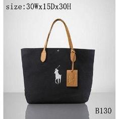 Ralph Lauren Polo Chic Canvas Handbag Orange