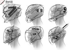 Hell Metz on Behance Futuristic Helmet, Futuristic Armour, Red Hood Comic, Anime People Drawings, Character Art, Character Design, Character Concept, Sketching Techniques, Industrial Design Sketch