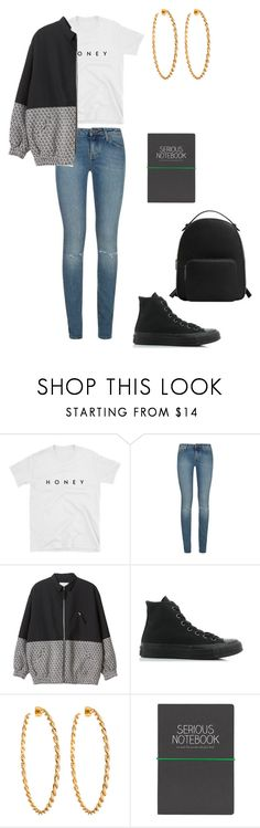 """Mallyah Zerm, day 4"" by princesscece6 ❤ liked on Polyvore featuring Yves Saint Laurent, Monki, Converse, Lisa Stewart, Wild & Wolf and MANGO"