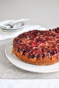 Fresh cranberries take center stage in this yummy holiday cake.