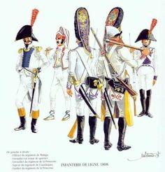 Tropas Españolas. Infantería de Línea 1808