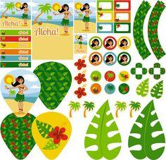 Kit digital FESTA HAVAIANA/LUAU