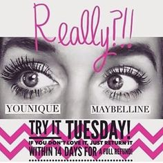 Try it Tuesday! Today is the day to order Younique 3D Fiber Lashes, the longer you wait the longer you continue to miss out on some stunning lashes! www.youniqueproducts.com/KelleyWolfe