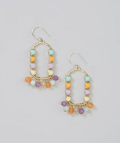 Look what I found on #zulily! Purple & Orange South Beach Drop Earrings #zulilyfinds