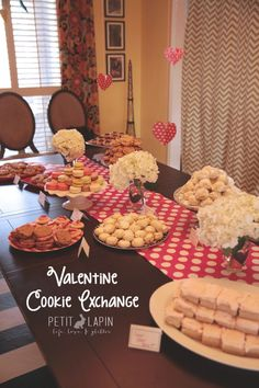 Valentine's cookie exchange. Any reason to host a party I'm with it.