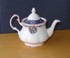 RARE David Whitehead Royal Albert China Charlotte Jenny Wren Small Teapot | eBay