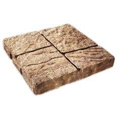 Sand Tan Four Cobble Concrete Patio Stone (Common: 16 In X 16