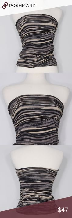 Free People Multicolored Striped Tube Top Bust: tba (laying flat) Length: tba (top to hem)  A beautiful and chic top in great condition! Criss-cross lace up detail on front. Intricate floral embroidered design. Side slits on both side. No holes, stains or imperfections. Comes from a smoke free environment.  Bundles welcome Offers welcome through offer button. ❌NO trades, please. ⚡️Same/Next day shipping Free People Tops