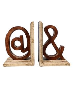 Love this Wood Punctuation Bookend Set on #zulily! #zulilyfinds