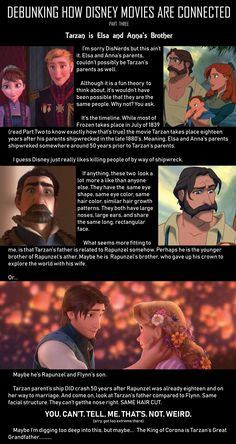 I'm a fan of this quite frankly. Cuz Tarzan and tangled and my favorite animated Disney movies (and Hercules.and Mulan) I'm a fan of this quite frankly. Cuz Tarzan and tangled and my favorite animated Disney movies (and Hercules.and Mulan) Disney Fun Facts, Cute Disney, Creepy Disney, Disney Disney, Dark Disney, Disney Stuff, Funny Disney Memes, Disney Jokes, Disney Conspiracy Theories