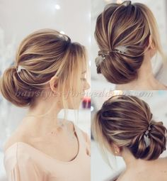 chignon wedding hairstyle Wedding Hairstyles For Long Hair, Wedding Hair And Makeup, Bride Hairstyles, Messy Hairstyles, Bridal Hair, Hair Wedding, Hairstyle Wedding, Hairstyles 2018, Hairstyle Ideas