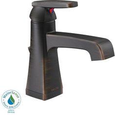Delta Ashlyn Single Hole 1-Handle High-Arc Bathroom Faucet in Venetian Bronze-564-RBMPU-DST - The Home Depot $214