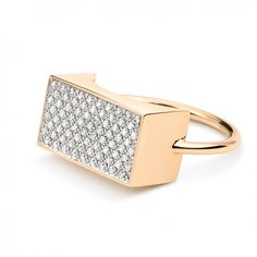 diamond ever rectangle ring | Ginette NY