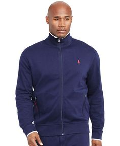 Polo Ralph Lauren Big and Tall Full-Zip Interlock Track Jacket