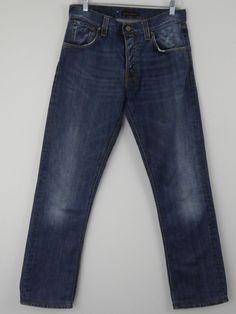 Nudie Jeans Easy Emil Old Broken 30 x 34 Straight Leg Distressed 100% Cotton  #NudieJeans #ClassicStraightLeg