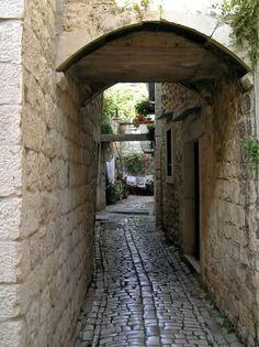 Old town street - Trogir - Dalmatia - Croatia
