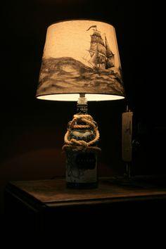 Release the Kraken! Kraken Rum, Man Cave Lighting, Nautical Lamps, Buy Furniture Online, Cheap Furniture, Rum Bottle, Table Lamps For Bedroom, Bottle Lights, Bottle Crafts