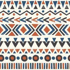Ethnique motif sans couture. cliparts vectoriels libres de droits