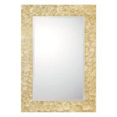 Framed Crystal Glam Square Ceiling Light Shell MirrorsBathroom