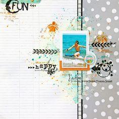 #papercrafting #scrapbook #layouts: Scrap Plaisir shannon91: Zoom sur... Veera : Happy life