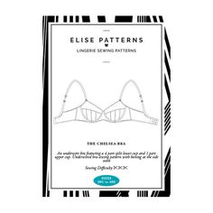 Chelsea bra sewing pattern - full coverage underwire bra with lace edge | 30C-40E | Front Cover