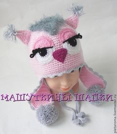 """Одежда для девочек, ручной работы. Ярмарка Мастеров - ручная работа Комплект зимний шапка+шарф """" Сова"""". Handmade."""