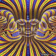Optique Illusion - Visage couleurs