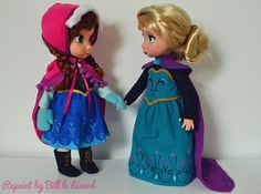 Anna Elsa Animator Repaint OOAK Custo Doll Disney Frozen | Flickr - Photo Sharing!