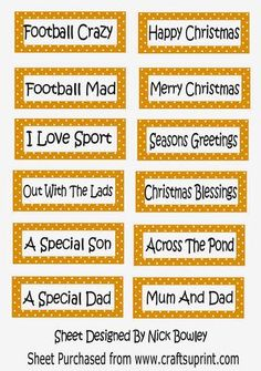 Lots of lovely seasons sport gold polkadot tags on Craftsuprint - Add To Basket!