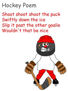 Hockey poem coloring page