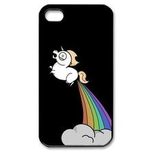 Lovely Funny Cute Little unicorn horse Plastic Cell Phone Cover Case For iPhone 4 4S 5 5S 5C 6 6PLUS(China (Mainland))