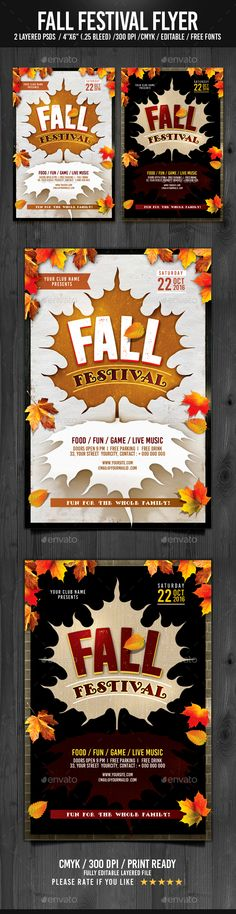 Fall Bash Festival Flyer Template Flyer Template Psd Templates