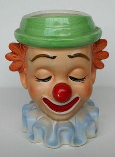 Vintage Inarco E-2320 Clown Head Vase, Lady Head Vase | eBay