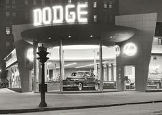 Dodge dealership at night New York by PanchromaticaDesigns