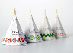 """カナダの学生 Sophie Pépin さんがデザインした紅茶のパッケージ。""""Teepee""""とい ..."""