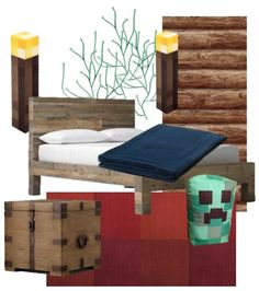 Vision for A Minecraft-Themed Bedroom. William is a big fan of Minecraft too, might get some ideas here. Minecraft Room Decor, Minecraft Bedroom, Minecraft Party, Mine Minecraft, Minecraft Stuff, Minecraft Ideas, Minecraft Furniture, Bedroom Themes, Kids Bedroom
