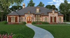 Old Wesley House Plan - House Plan - Ranch - 2365 sf 3 bedrooms 2-1/2 bath.  Very large master bedroom.
