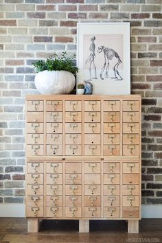 Rescuing A Craigslist Card Catalog (the before was HORRIBLE!!)