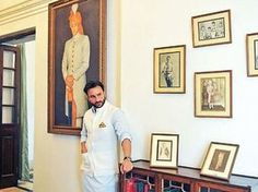 At the request of Iftikhar Ali Khan the Nawab of Pataudi, the Pataudi palace was designed in the style of the colonial mansions of Imperial De. Colonial Mansion, Palace Interior, Saif Ali Khan, Indian Fashion, Celebrity Style, Bollywood, Gallery Wall, Handsome, Celebs