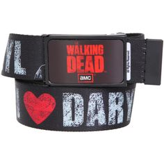 The Walking Dead I (Heart) Daryl Bottle Opener Web Belt | Hot Topic ($20) found on Polyvore