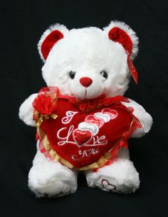 """Valentine's Teddy Bear (15"""") Says """"I LOVE YOU"""" When Its Paw is Pressed - Best Valentine's Day Gifts: Valentines Day Gifts for Her, Valentines Day Gifts for Him, Valentines Day Gifts for Girlfriend, Valentines Day Gifts for Boyfriend, Valentines Day Gifts for Men, Valentines Day Gifts for Husband, Valentines Day Gifts for Wife, Valentines Day Gifts for Women"""