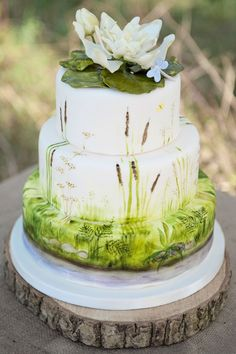 Delightful and Delicious Spring Wedding Cake Ideas - Painted