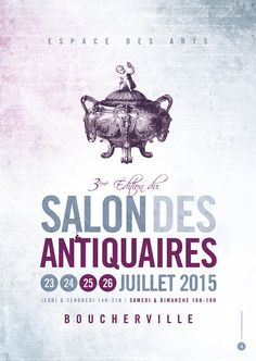 Affiche Brocante Salon antiquaires - Le Moulin à Puces