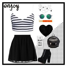 """""""Untitled #108"""" by jordan098 ❤ liked on Polyvore featuring New Look, H&M, Kate Spade, even&odd and Alisa Smirnova"""