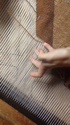 "This is ""Two color weaving"" by erin m riley on Vimeo, the home for high quality videos and the people who love them. Weaving Tools, Weaving Projects, Inkle Loom, Loom Weaving, Textiles Techniques, Weaving Techniques, Weaving Textiles, Tapestry Weaving, Navajo Weaving"