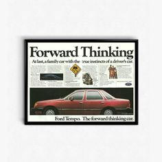 Ford Tempo Car Photo  Family Car Ad  Have You Driven A Ford Lately  Cute 80s Car  Tempo Car History  Ford Car Advert  Old Ford Tempo by RetroPapers