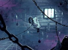 Chained in the net and begging for mercy, Melody sees her feathers falling second after second. And the cold jail of the wrong heaven is echoing, with her silent prayers. © Cyril Rolando