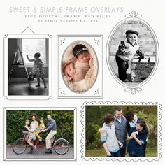 Sweet and Simple Frame Overlays by Jamie Schultz Designs